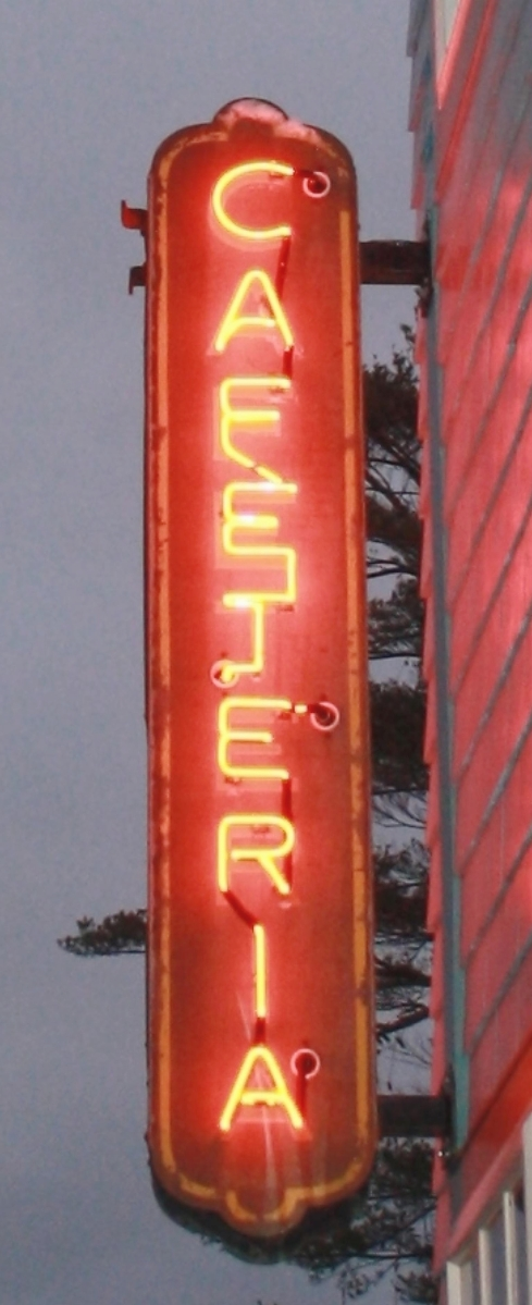 The same New Hampshire collector who purchased the milk truck was successful in bidding for this early Twentieth Century neon cafeteria sign, which brought $4,375.