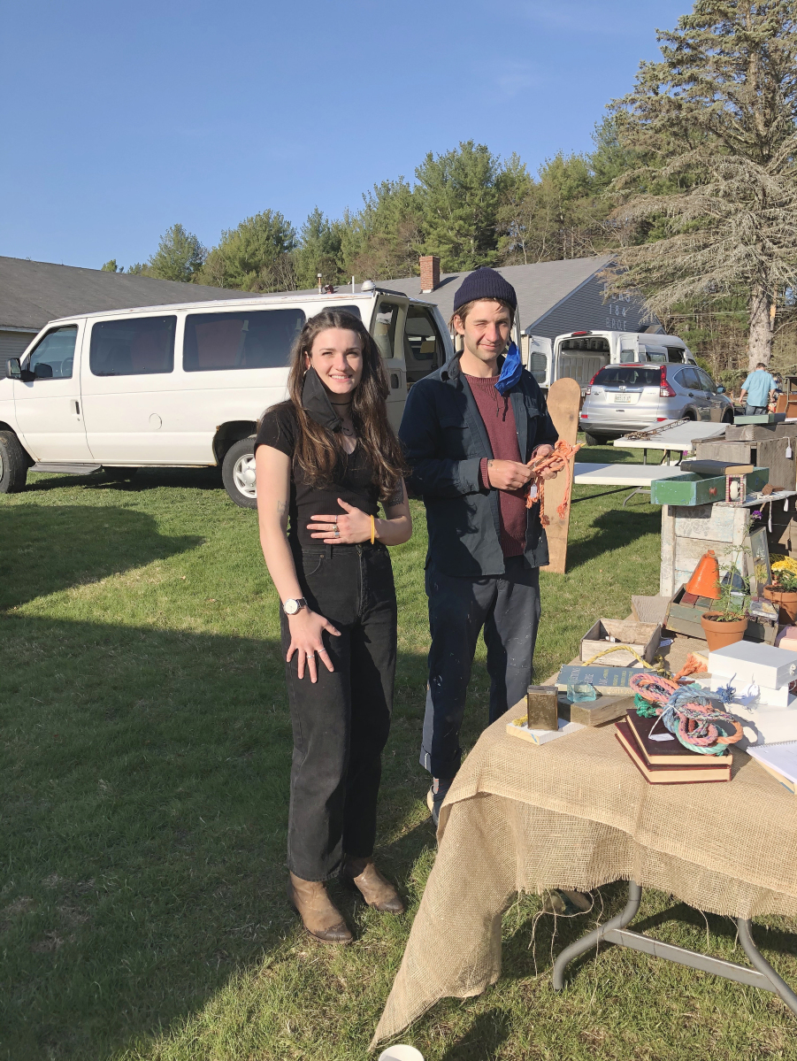 Nick Vacchiano, Portland, Maine, is one of the new dealers that the Gurleys encouraged to do shows. He said he started about three months ago. His friend Lila Lyons is Rachel and Josh Gurley's niece.