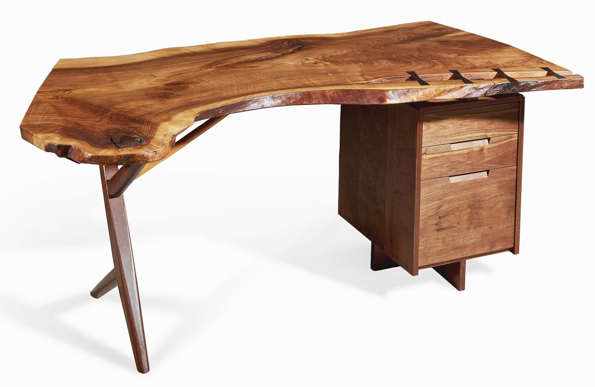 """George Nakashima """"Conoid"""" desk."""