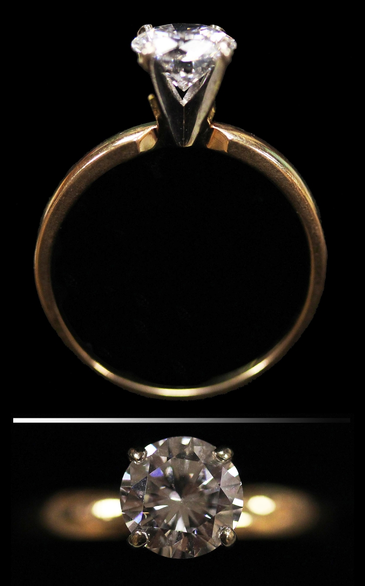 """""""We had a lot of interest in that one,"""" Amanda Colbert said, referring to the top lot on the first day of the sales, a 1.33-carat diamond and yellow gold engagement ring that dazzled a local private collector to take bids to $7,168."""