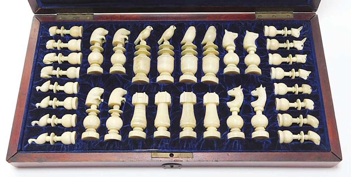 Checkmate! Inuit walrus ivory chess sets do not cross the block with any regularity, so this example — which had a letter documenting its purchase in 1903 in San Francisco — got a lot of interest, particularly from online bidders. Kevin Bruneau said it sold to a phone bidder for $6,600, a price he was very happy with ($3/5,000).