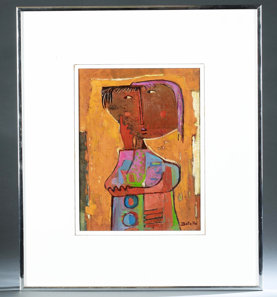 """""""Thinking Girl"""" by Angel Botello rounded out the top three prices in the sale and sold for $22,860. It had come from an Arlington, Va., estate ($10/15,000)."""