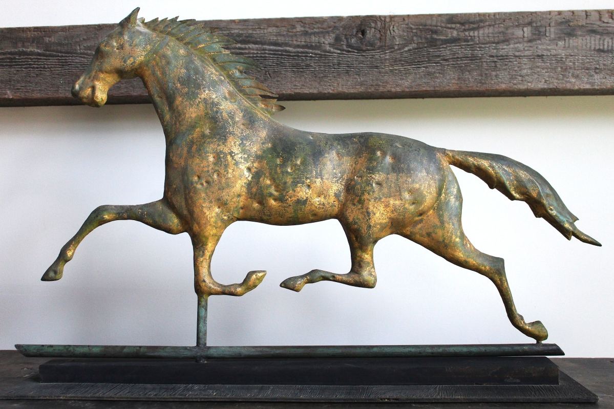 David Weiss closed the deal on this Ethan Allen weathervane with a new client. David M. Weiss Antiques, Sheffield, Mass.