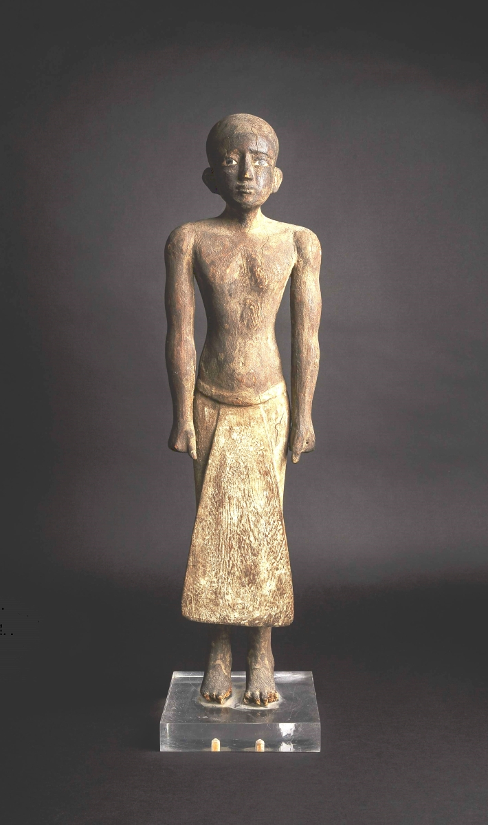 Leading the sales was this Sixteenth Century BCE Egyptian wooden statuette of a high-ranking official, which stood 24¾ inches high. It realized $167,700.