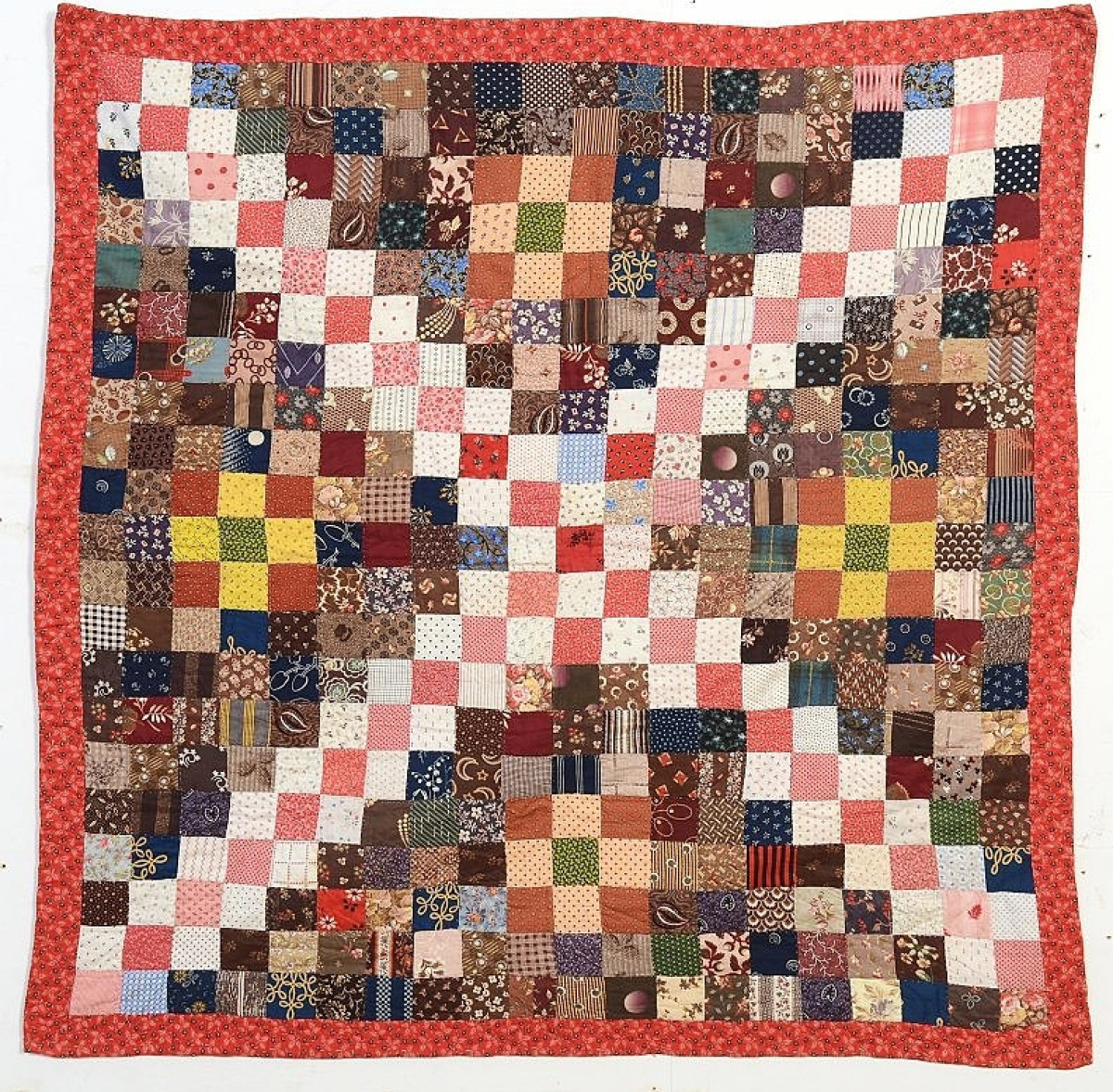 Darnestown, Md., quilt dealer Stella Rubin had this one patch crib quilt. At press time it was still available.