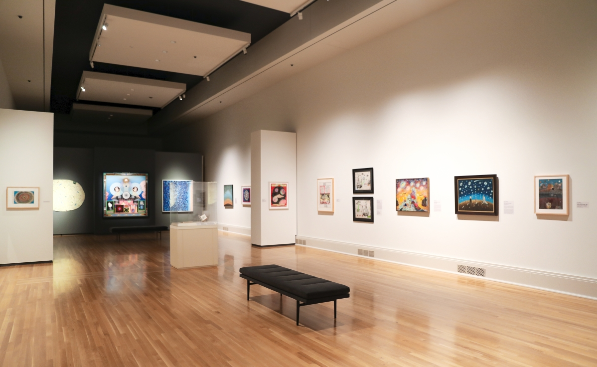 """Installation view of """"Supernatural America: The Paranormal in American Art"""" at the Toledo Museum of Art. Photo by Robert Cummerow, courtesy Toledo Museum of Art."""