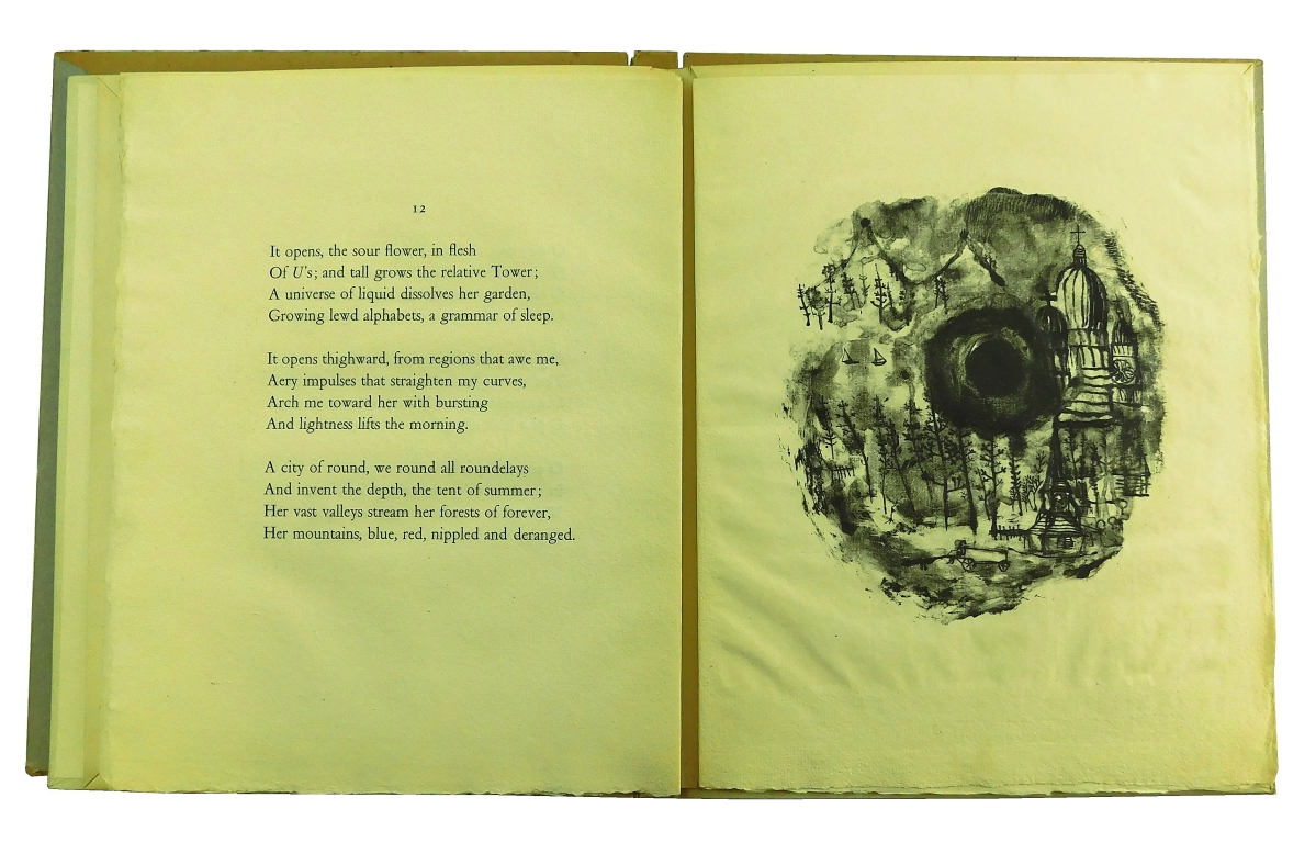 Zao Wou-ki (China/France, 1921-2013) produced the artwork for Harry Roskolenko's Paris Poems. Included here were six lithographs, the circa 1950 volume going out at $7,380.