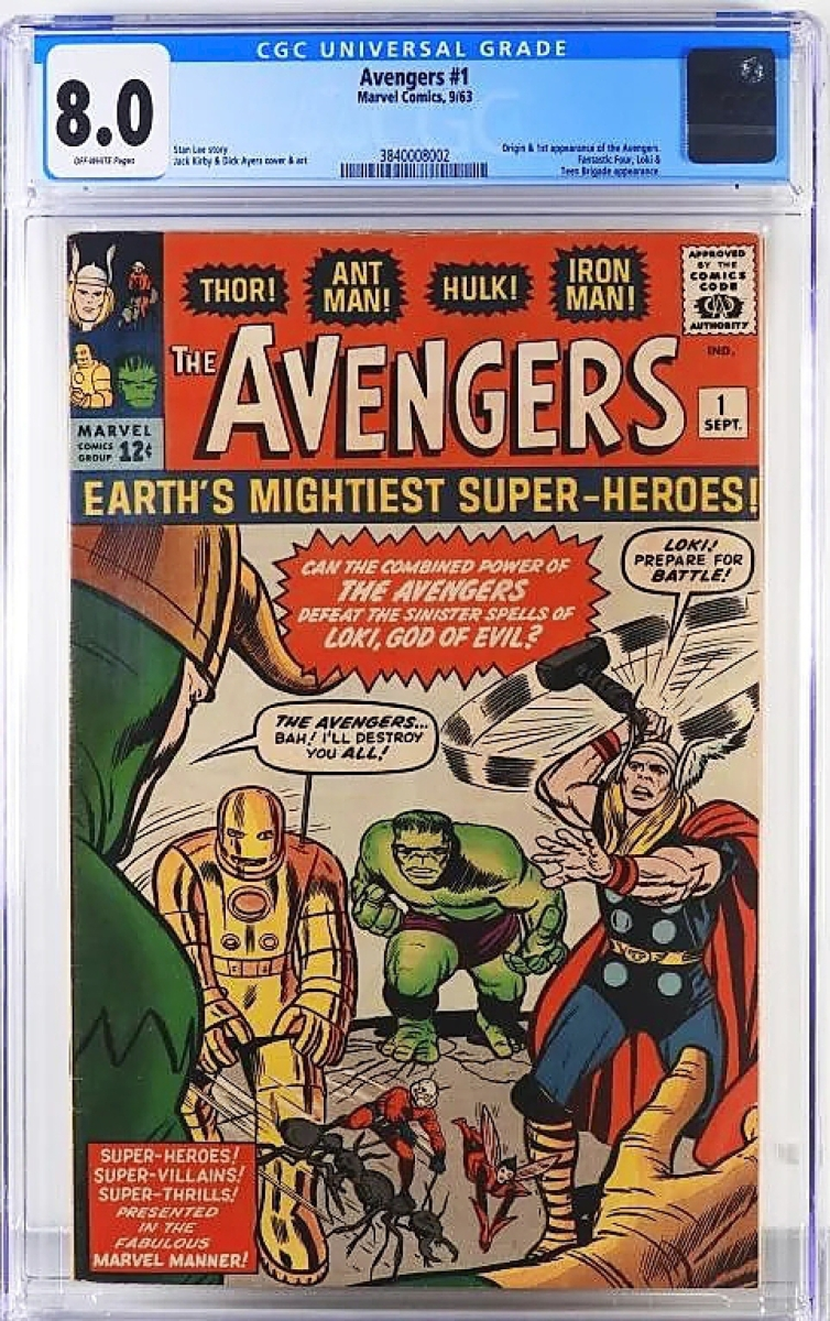 The sale was led at $23,125 by an Avengers #1, recently graded for the first time in an 8.0. It came from a collection in New Jersey, amassed by a retired academic who purchased many of his Silver Age comics off the newsstand. Landry said he read them once or twice and then put them away into a liquor box, where they sat until Landry arrived to inspect the collection.