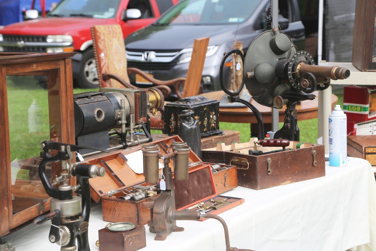 Peter Hirsch of Chappaqua, N.Y., started collecting early technological instruments decades ago. Those on display here include a polarimeter, a stadimeter and a magic lantern.