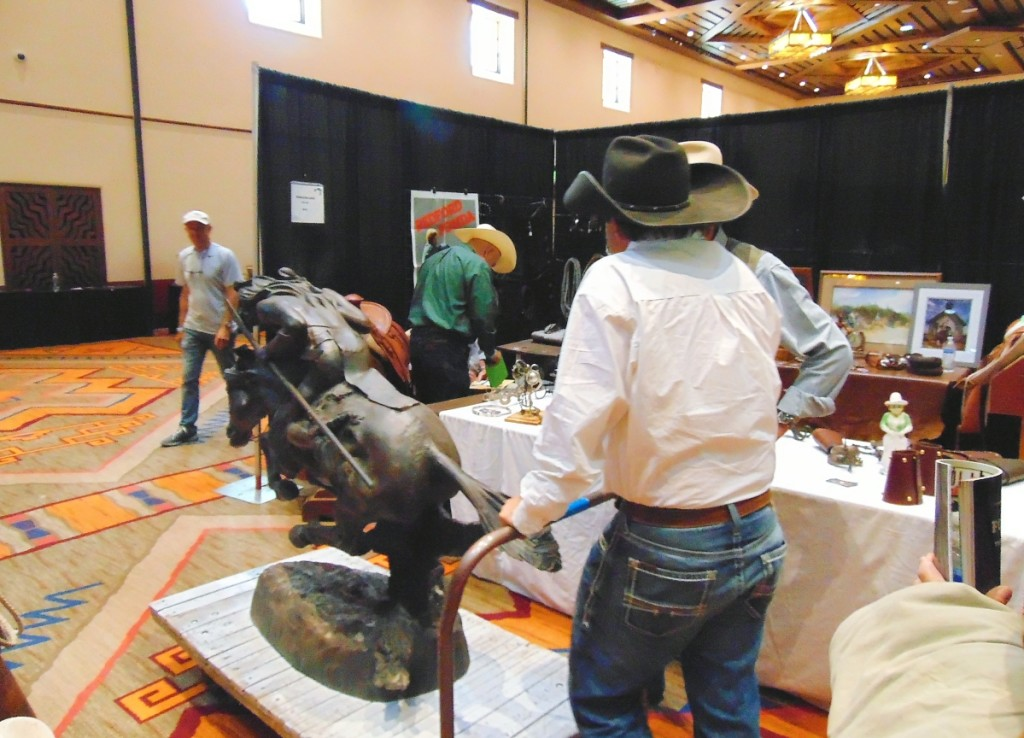 """On Saturday, Clint Mortenson, Mortenson Silver and Saddles, Santa Fe, sold this large replica of Frederic Remington's 1901 bronze, """"Cheyenne,"""" priced at $2,500. He delivered it in person. Well, at least to the loading dock."""