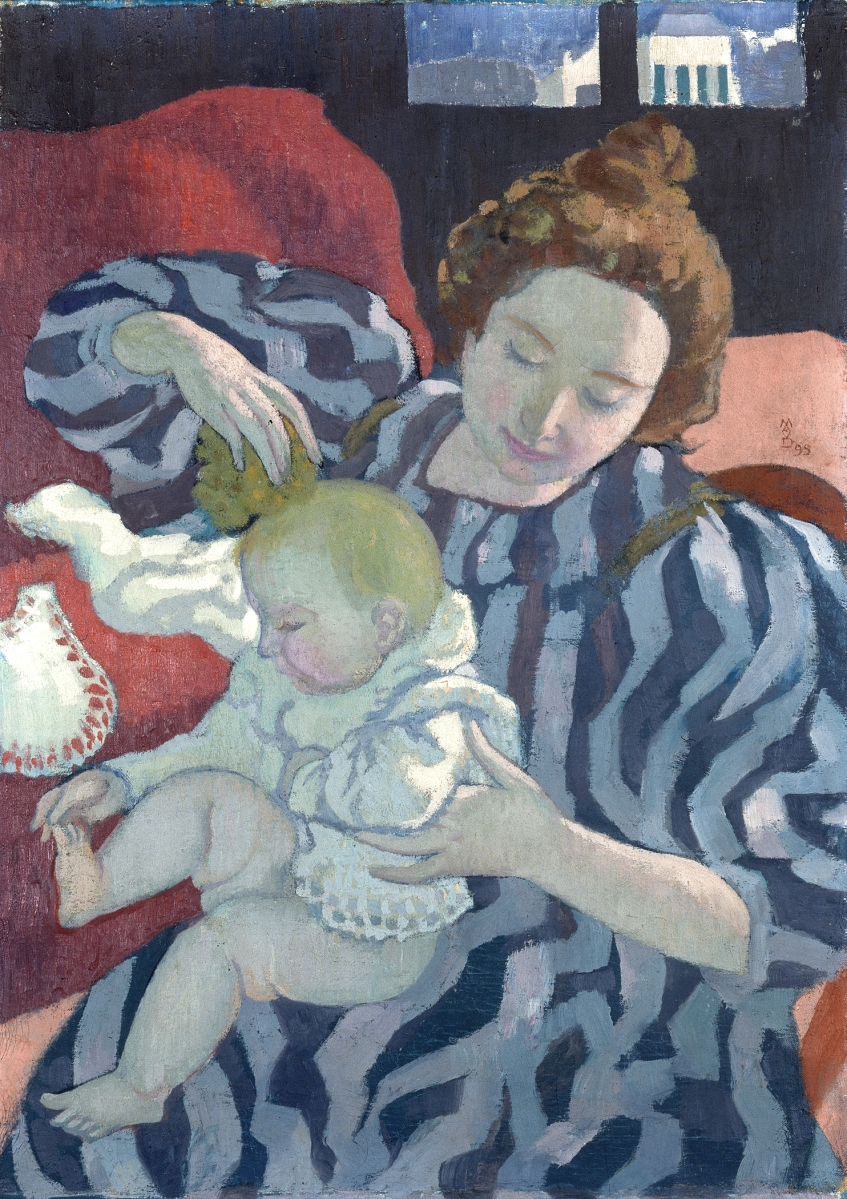 """""""Washing the Baby"""" by Maurice Denis (French, 1870-1943), 1899. Oil on canvas. Private collection. Image ©Catalogue raisonné Maurice Denis. ©2021 Artists Rights Society (ARS), New York / ADAGP, Paris."""