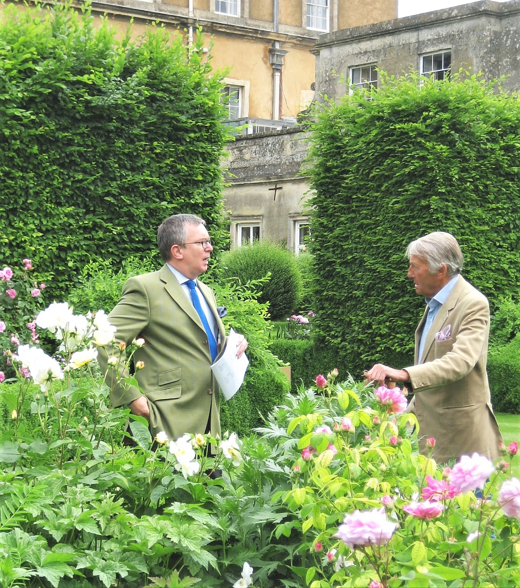 """""""Tom has opened my eyes to the subtlety of English architecture. Once he took me to Badminton for a private visit with the Duchess of Beaufort. It's just not something the average person does,"""" Margaret Pritchard says. Savage, left, is seen here at Badminton, Gloucestershire, with the late Duke of Beaufort."""