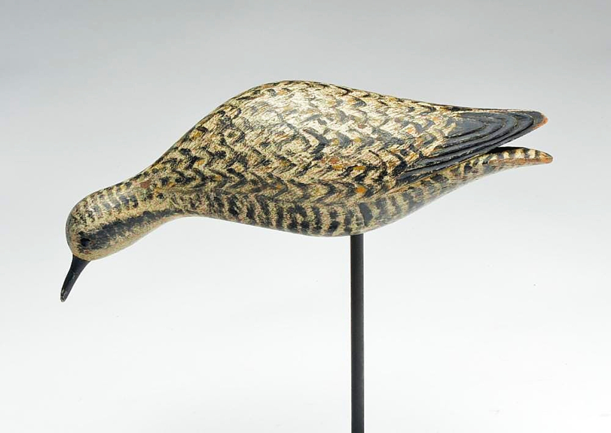 Mike Martin, Syracuse, N.Y., bought and sold this golden plover decoy by Elmer Crowell last year. He's a believer in having a good reference library, and it probably helped with this bird. He bought it at an auction for $10,000 and sold it a few months later at another auction for $90,000.