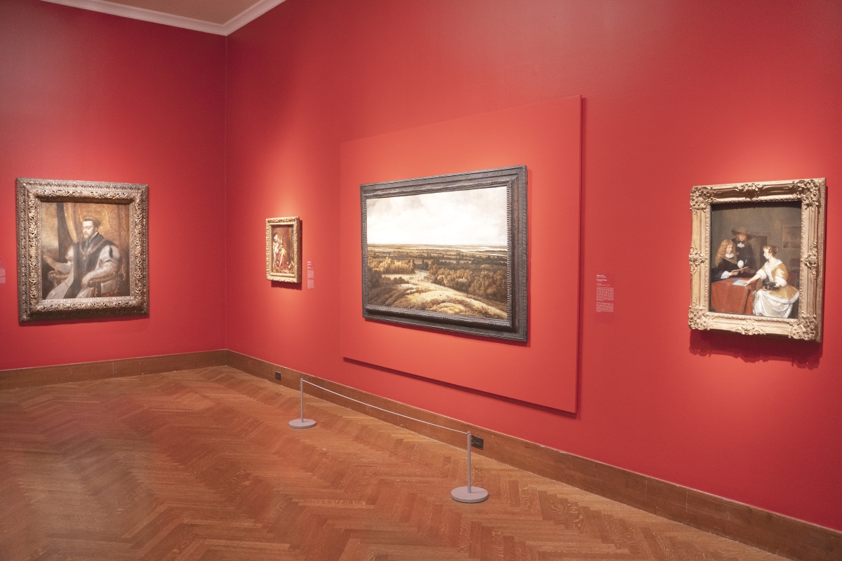 """Installation image, """"The Berlin Masterpieces In America: Paintings, Politics, And The Monuments Men."""" Image courtesy Cincinnati Museum of Art."""