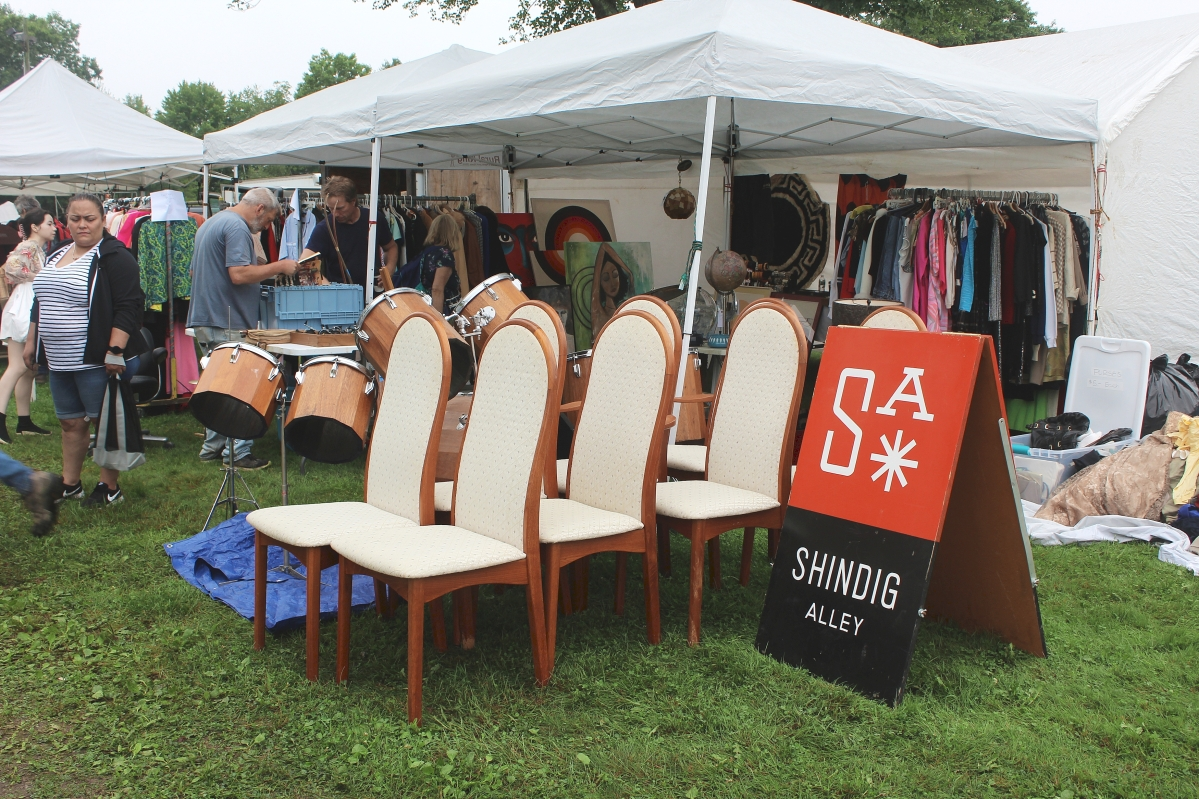 Midcentury Modern furniture and accessories and vintage clothing are the mainstays of Shindig Alley, Philipsburg, Penn.  —Heart-O-The-Mart