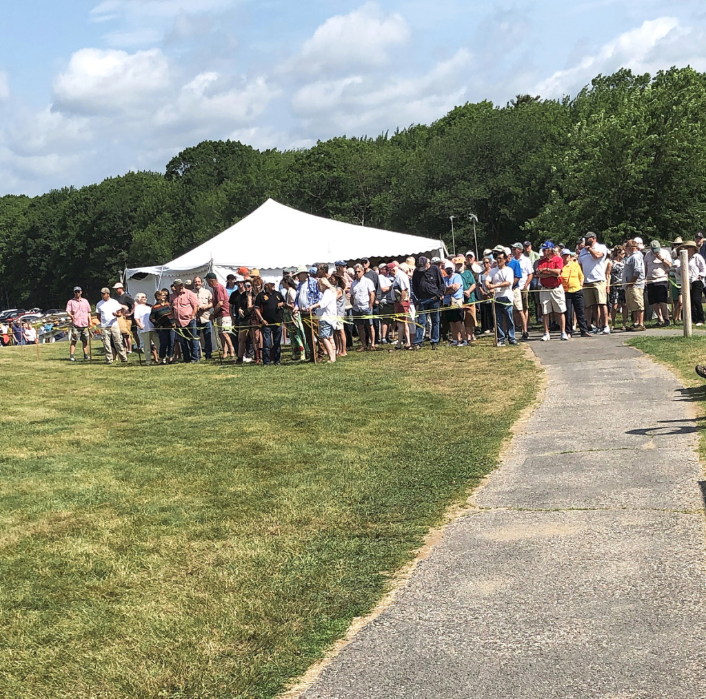 John DeSimone said that more than 500 people came through the gate in the first hour of the show. This photo shows only a portion of those lined up prior to the opening.