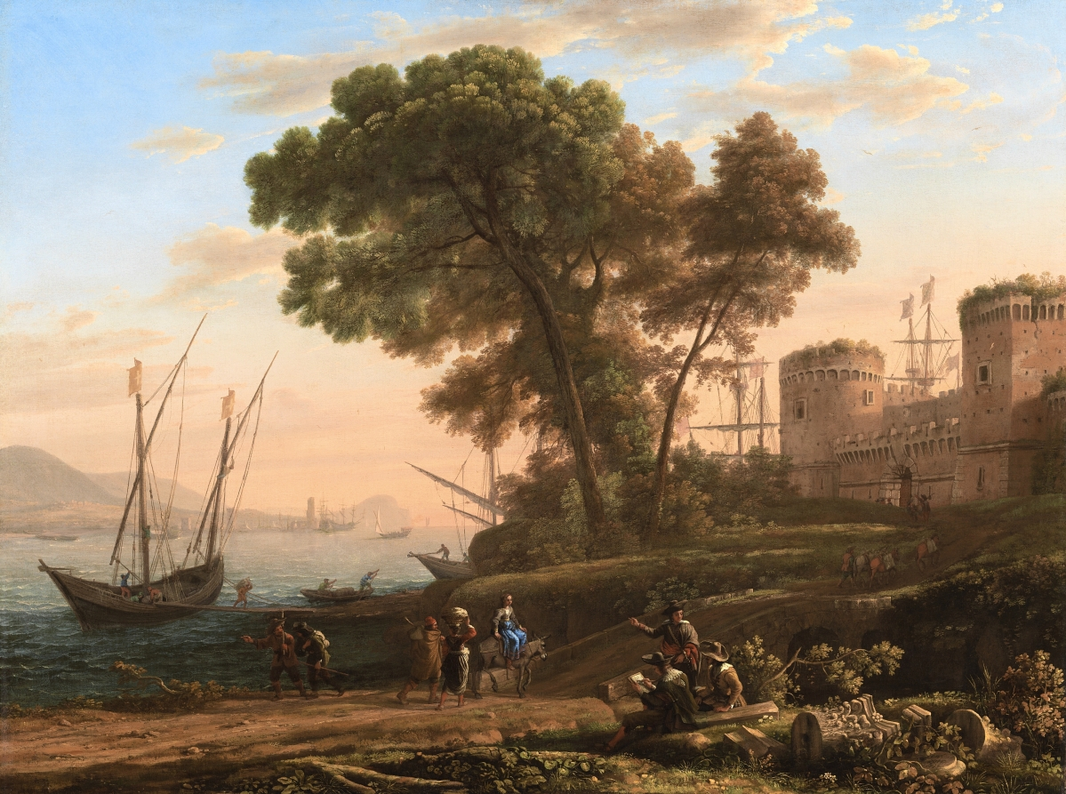 """""""An Artist Studying from Nature"""" by Claude Lorrain (French, active in Italy, 1604-1682), 1639. Oil on canvas. Cincinnati Art Museum, gift of Mary Hanna."""