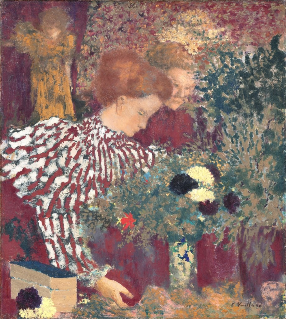 """""""Woman in a Striped Dress"""" by Édouard Vuillard (French, 1868-1940), 1895. Oil on canvas. National Gallery of Art, Washington, DC, collection of Mr and Mrs Paul Mellon. Courtesy National Gallery of Art, Washington, DC. ©2021 Artists Rights Society (ARS), New York / ADAGP, Paris."""