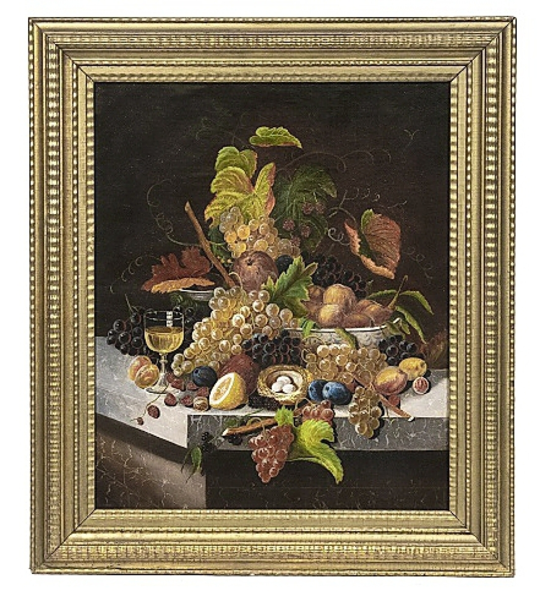 Fetching $28,080 was this oil on canvas still life painting by Severin Roesen.