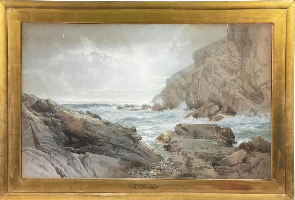 William Trost Richards - Rocky Coastline