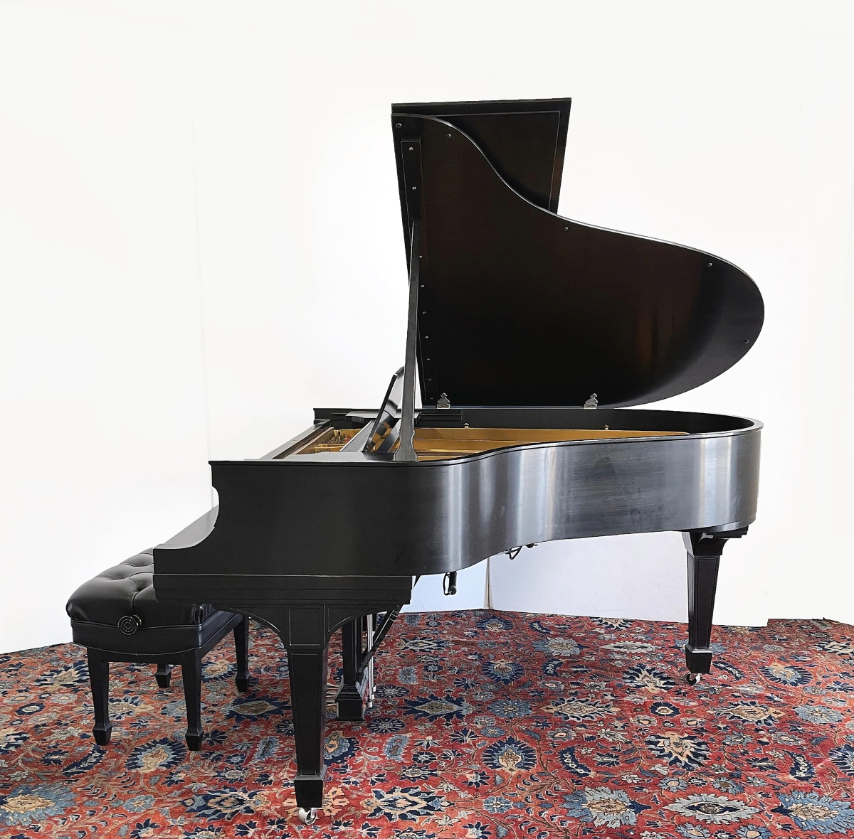 The Steinway Model O piano sold to an internet bidder for $11,250.