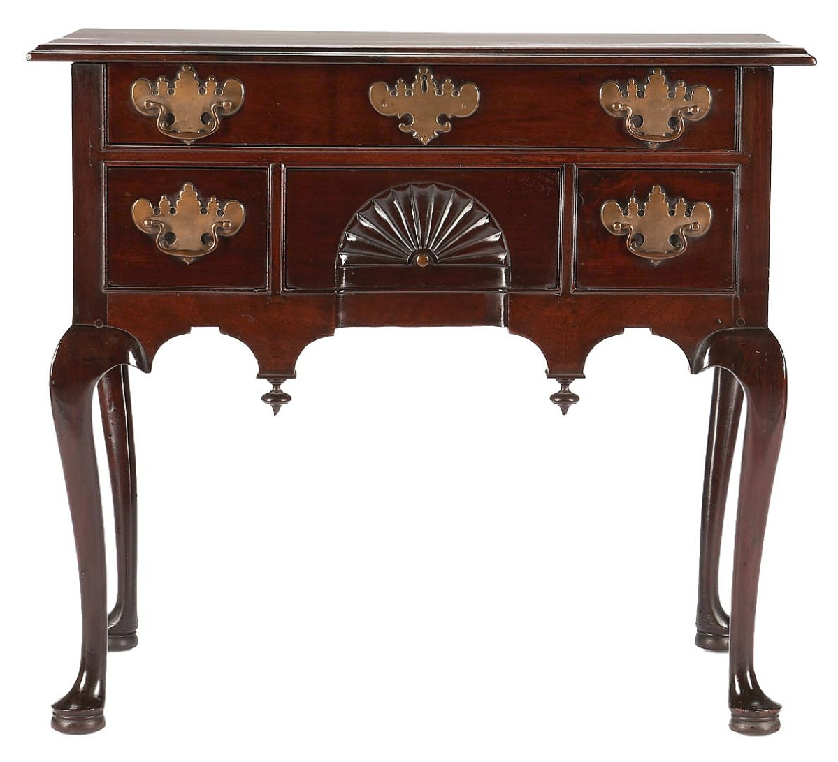 Prominent Twentieth Century Americana collector Charles K. Davis purchased this American Queen Anne mahogany lowboy from Israel Sack. It then passed down to his son, Charles K. Davis Jr, whose estate supplied about 20 pieces of choice American furniture to the sale. This New England example dating to the Eighteenth Century sold for $66,000.
