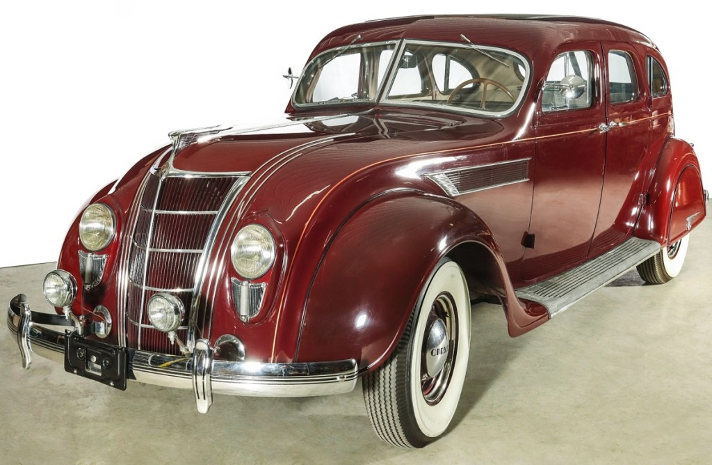 Top lot in the sale was a beautifully restored 1935 Chrysler Airflow Imperial, which motored to a $35,200 final price. The Series C-2 car came from the Joseph family of Belleville, Ill., owners of the world's oldest Chrysler-Dodge-Jeep agency until August 1, 2006. The buyer was an internet bidder who advanced the car's $15/20,000 estimate.