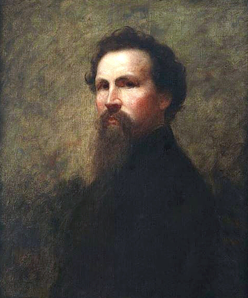 Self-portrait by Eastman Johnson (1824-1906), circa 1859-60, oil on canvas, 30.38 by 25 inches. Collection of the National Academy of Design.