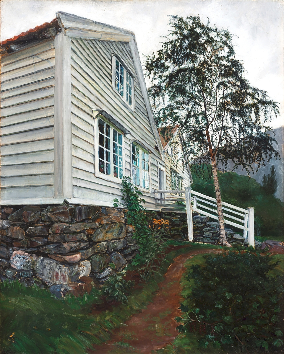 """""""The Parsonage"""" by Nikolai Astrup, no date. Oil on canvas. Savings Bank Foundation DNB / KODE Art Museums and Composer Homes, Bergen."""