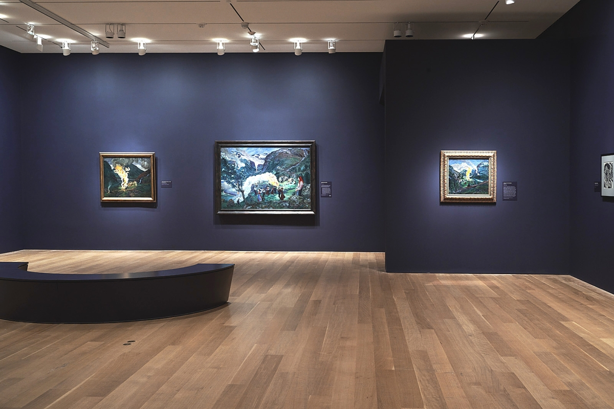 "Installation view, ""Nikolai Astrup: Visions of Norway."""