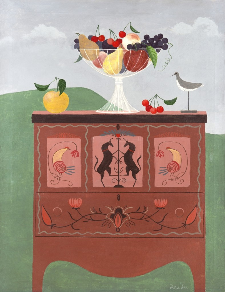 """""""Fruits of Pennsylvania"""" by Doris Lee, 1946-47. Oil on canvas, 35¼ by 28 inches. The Penn Art Collection, University of Pennsylvania. ©Estate of Doris Lee, Courtesy D. Wigmore Fine Art, Inc. Photo Candace diCarlo."""