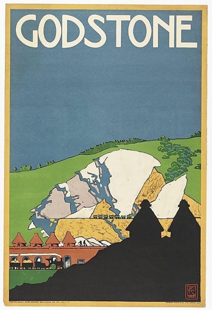 """Godstone,"" poster, 1915, printed 1916, Published by Underground Electric Railways Company, Ltd., London, Printed by Johnson, Riddle & Co., London, Matt Flynn photo."