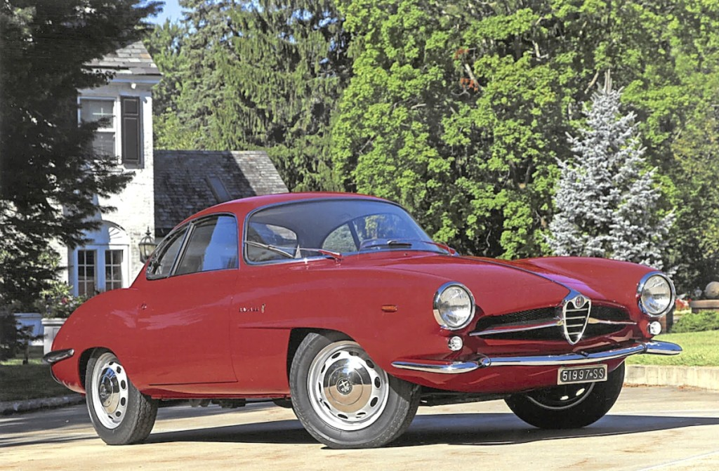 Top lot was this 1964 Alfa Romeo Giulia Sprint Speciale SS that drove off at $143,000.